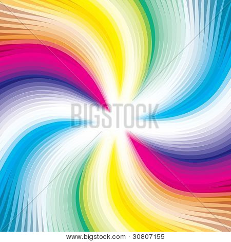 Abstract Digital Background Image - Colorful Wavy Lines