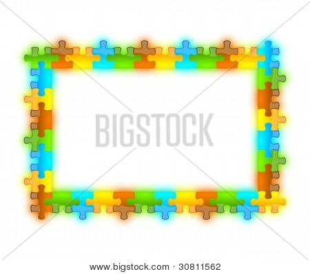 Color, Glossy, Brilliant And Jazzy Puzzle Frame 12 X 8