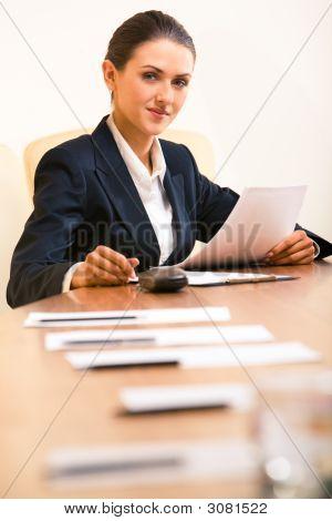 Zuversichtlich Sekretär