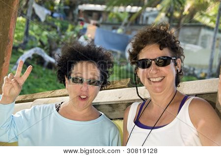 Media edad mujer turistas Corn Island Nicaragua