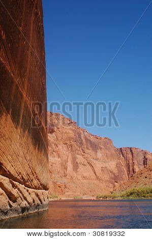 Canyon Walls From The Colorado River