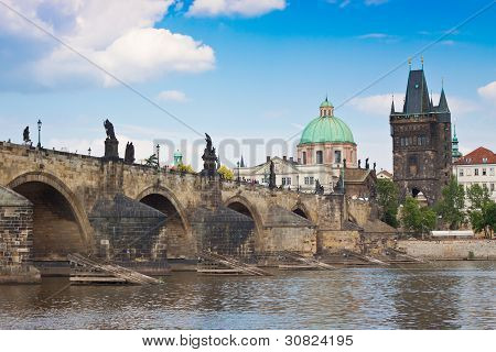 Prague. Charles Bridge In Prague  Czech Republic