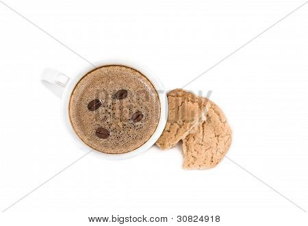 Cup Of Real Coffee And Cookies