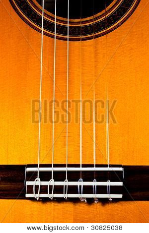 The Top Of A Classical Guitar