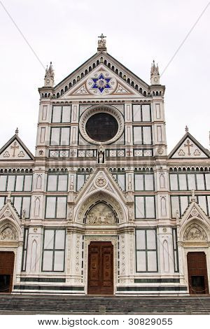 The Basilica Di Santa Croce Famous Franciscan Church On Florence, Italy