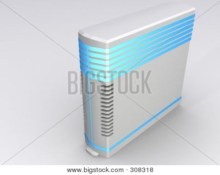 Pc With Blue Strips
