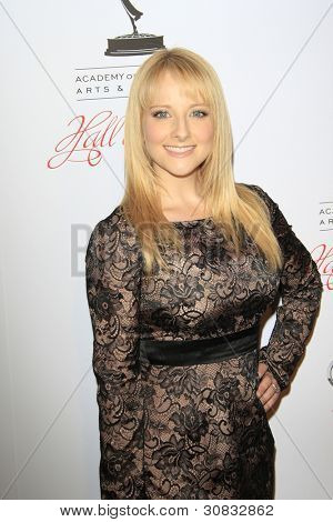 BEVERLY HILLS, CA - MAR 1: Melissa Rauch at the Academy of Television Arts & Sciences 21st Annual Hall of Fame Ceremony at the Beverly Hills Hotel on March 1, 2012 in Beverly Hills, California