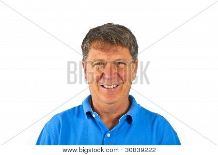 Attractive Man Dressed Casually In Studio Isolated On White