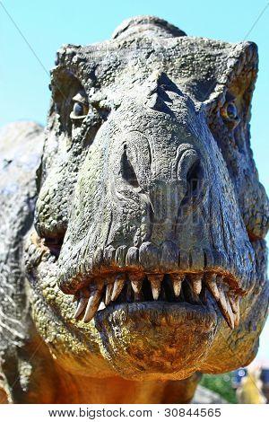 Cabeça de dinossauro Tiranossauro Rex