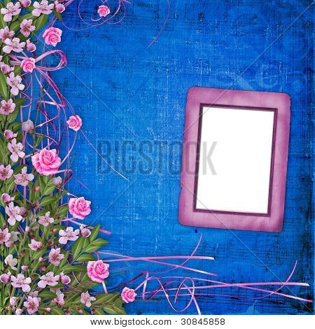 Writing Abstract Background With Floral Beautiful Bouquet