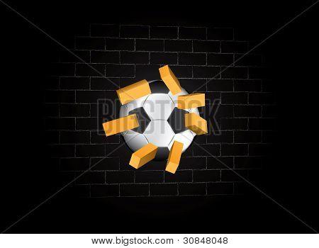 Ball Struck Brick Wall