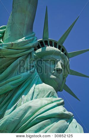 Lady Liberty Super Close Up