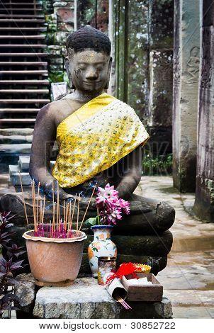 Buddhist shrine at Bayon Temple