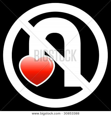 No U-Turn Your Love Sign (Black)