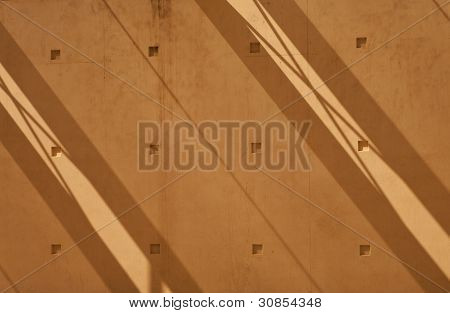 abstract composition with shadows on the wall
