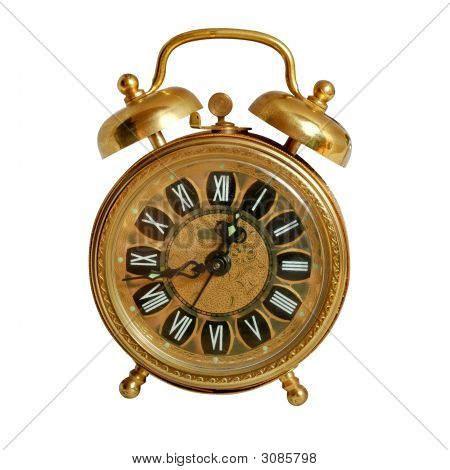 Alarm Clock Isolated On White, Path Included
