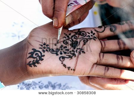 Artistic work on hand
