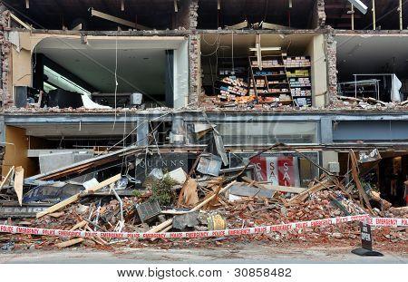 Terremoto de Christchurch - Merivale tiendas destruidas
