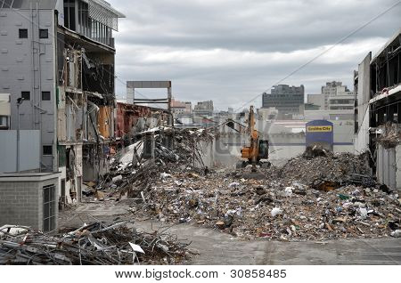 Terremoto de Christchurch - CDB sur destruido