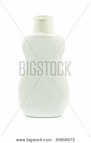 white bottle product package on white background