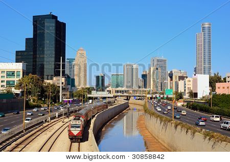 Ramat Gan, the Financial District near Tel Aviv, Israel.