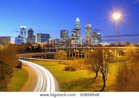 Uptown Charlotte, North Carolina.