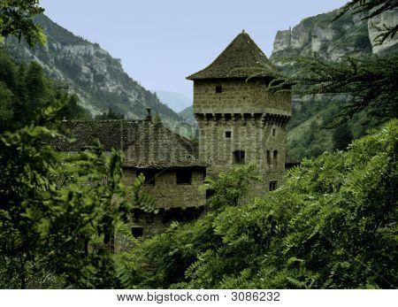 Castle In Rocky Valley