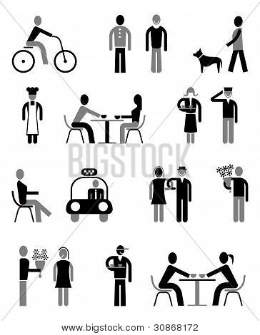 People - Set Of Isolated Vector Icons