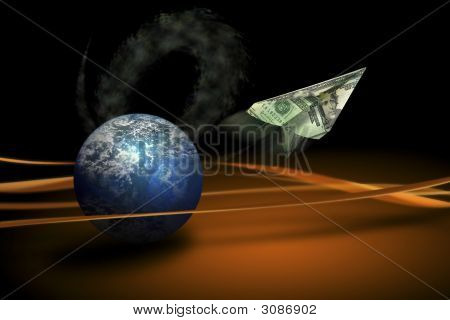 Planet Fying Money