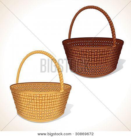 Isolated Empty Basket