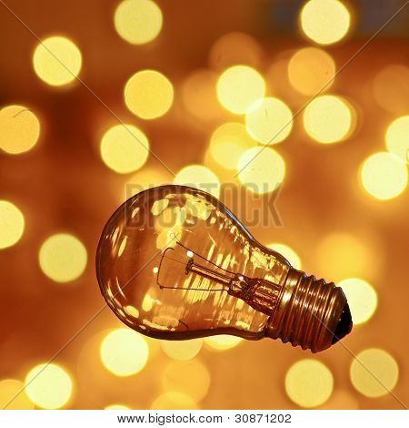 Light Bulb With Bokeh