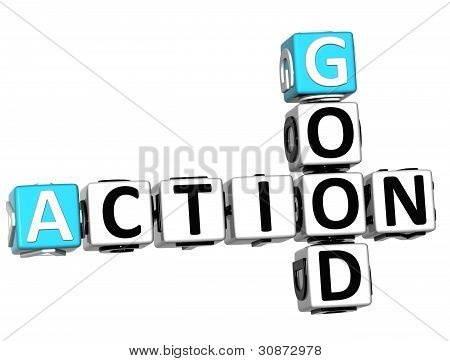 3D Check Action Good Crossword Text