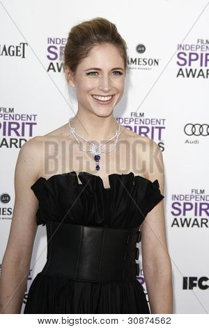SANTA MONICA, CA - FEB 25: Fiona Hefti at the 2012 Film Independent Spirit Awards on February 25, 2012 in Santa Monica, California