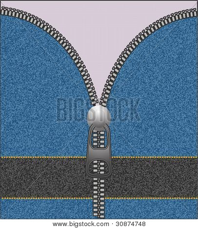 Background With Fasten Jeans Fabrics For Message