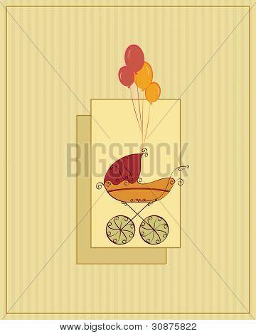 tarjeta de la ducha de bebé