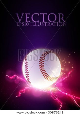 abstract vector baseball ball illustration
