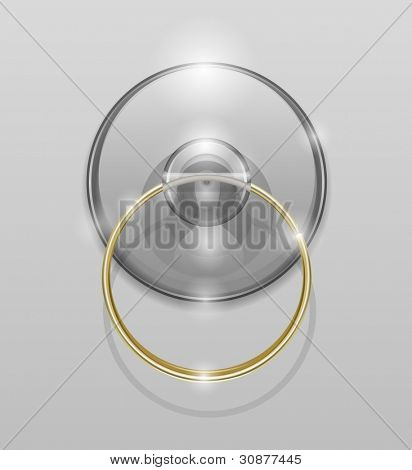 silicone suction cup vector illustration EPS10. Transparent objects used for shadows and lights drawing
