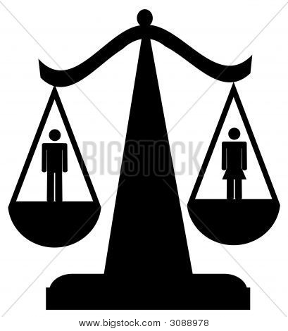 Scales Of Justice W Man And Woman
