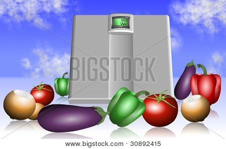 Vegetable And Scale