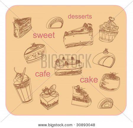 sweet dessert background