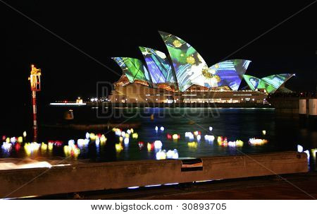 Sydney Opera House Lights, Australia