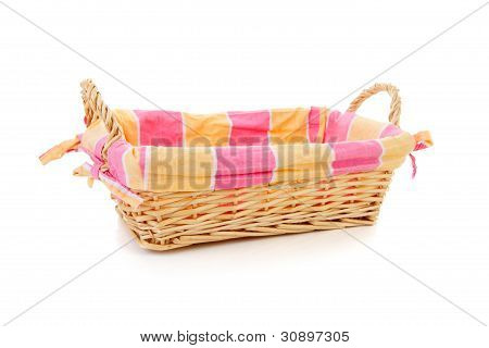 Empty Cane Bread Basket