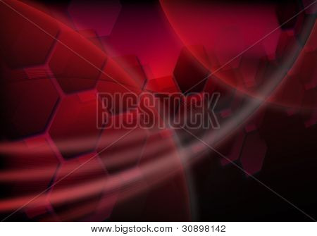 Red Futuristic Background