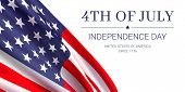 4th Of July - Independence Day. United States Of America Since 1776. Vector Banner Design Template W poster