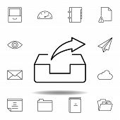 Box Email Forward Send Outline Icon. Detailed Set Of Unigrid Multimedia Illustrations Icons. Can Be  poster