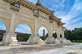 The Main Gate Of National Taiwan Democracy Memorial Hall ( National Chiang Kai-shek Memorial Hall ). poster