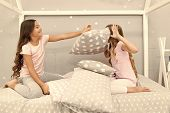 Pillow Fight Pajama Party. Sleepover Time For Fun. Best Girls Sleepover Party Ideas. Soulmates Girls poster