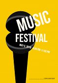 Music Poster Modern Vintage Retro Style. Graphic Design Template Can Be Used For Background, Backdro poster