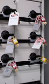 Lock out & Tag out, Lock out station, machine - specific Lock out devices , Lock out for electrical  poster