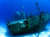 Underwater Shipwreck In Cayman Brac